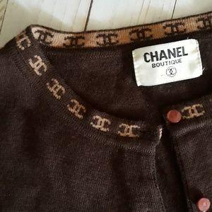 ❤ Chanel Brown Cardigan